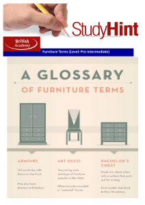 furniture terms
