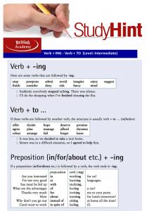 verb + ing + to