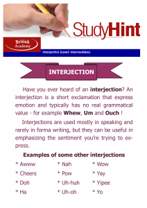 interjection