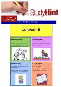 idioms B
