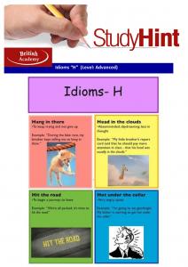 idioms H