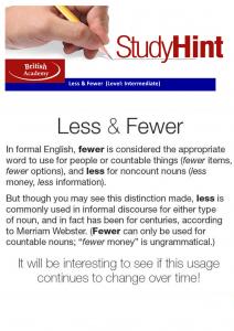 less & fewer
